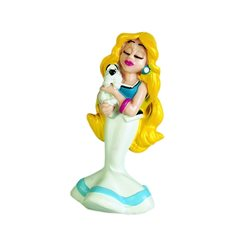 Figurine resin Tintin and Snowy with mushroom