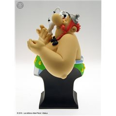 Figurine resin Tintin and Snowy Piroge canoe