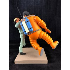Smurf Figurine Collectible Scene: Smurf Village with Johan & Peewit from the Smurfs And The Magic Flute (Pixi 2715)