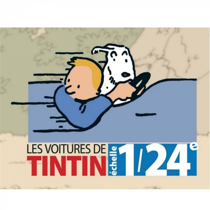 Gaston Lagaffe Statue: Gaston in his car Fiat 509, 7cm (Plastoy 62105)