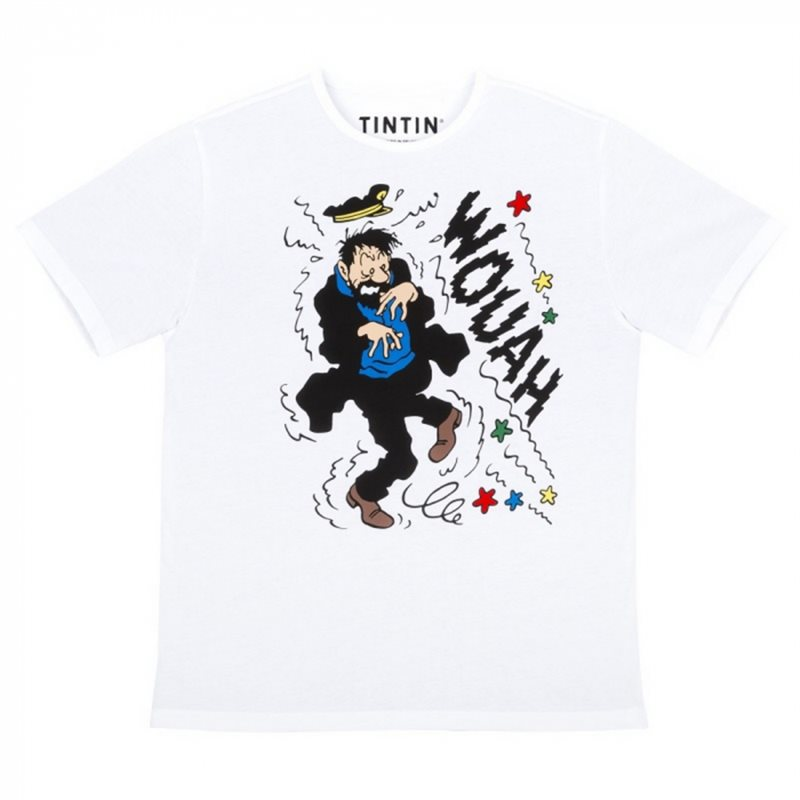 Gaston Lagaffe Statue Resin: Gaston leaning on a stack of comics, 17cm (Plastoy 321)