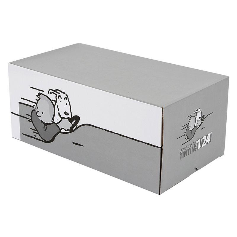 Tintin Transport Model car: The Blue Lotus red truck Nº49 1/24 (Moulinsart 29949)
